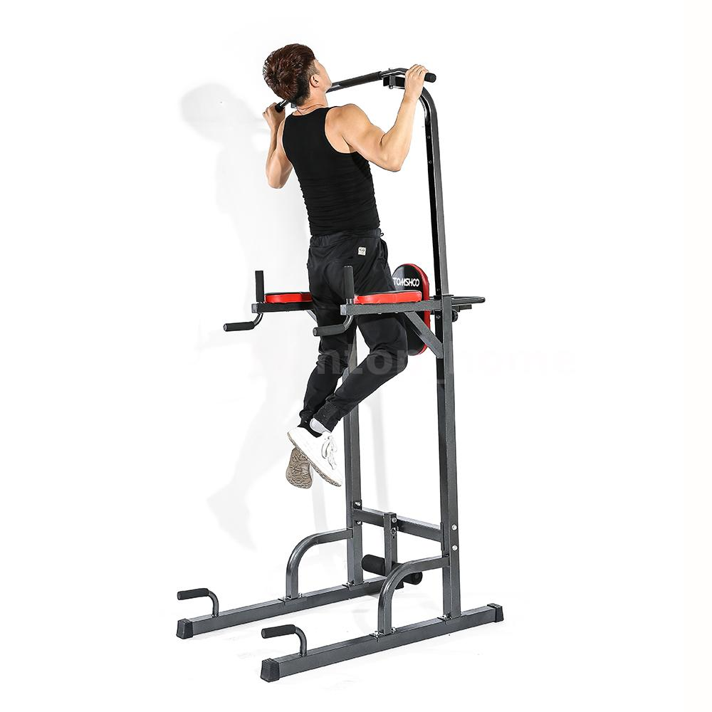 Power Tower Fitness Station Gym Home Chin Pull Up Dip Exercise Push Bar